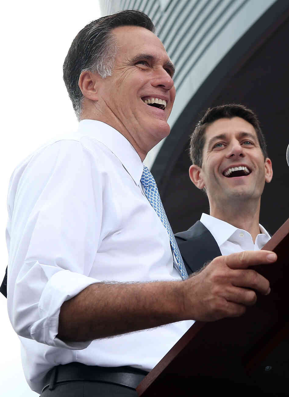 Mitt Romney introduces Rep. Paul Ryan of Wisconsin as his vice presidential running mate Saturday in Norfolk, Va.