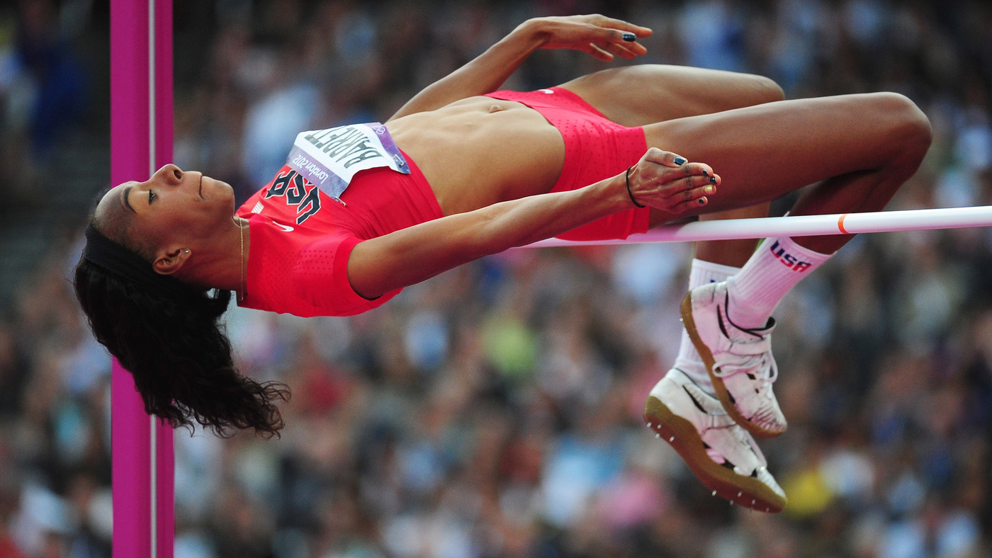 America S Brigetta Barrett Brings Out Her Best And Jumps To A Silver Medal The Torch Npr