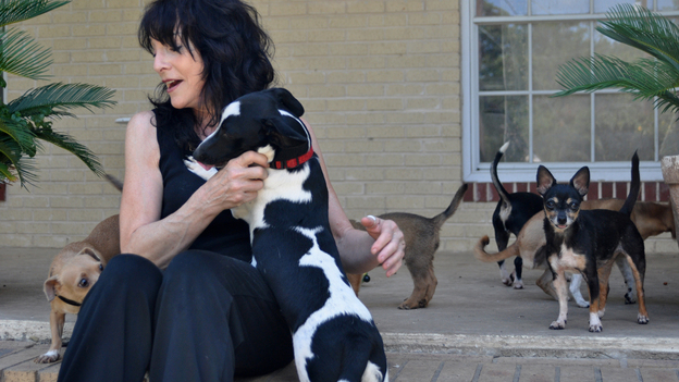 Carol Hirschi and her dogs. (Courtesy of Robin Bisha)