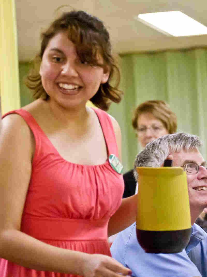 Maricruz Osorio, a KPCK volunteer and Knox College student.