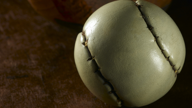"""A """"featherie"""" golf ball from the 1800s. (iStockphoto)"""