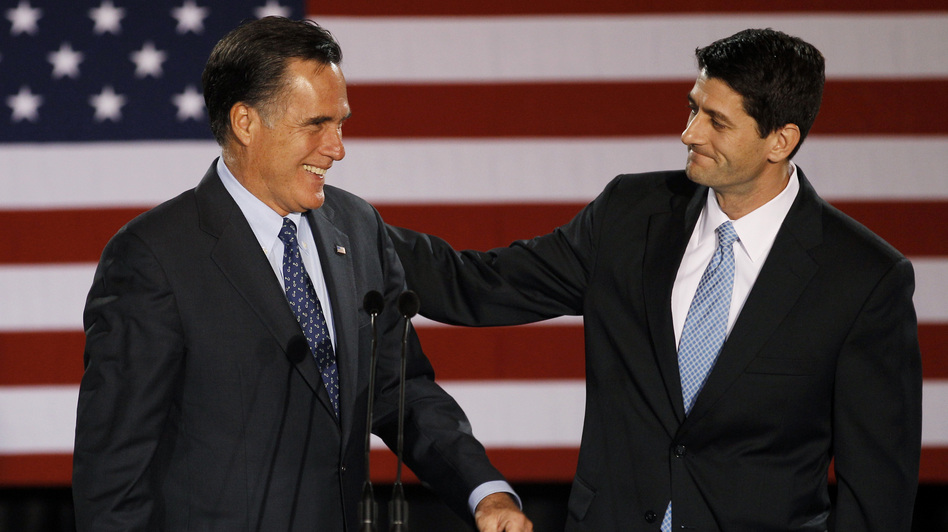 House Budget Committee Chairman Rep. Paul Ryan, R-Wis. introduces Republican presidential candidate Mitt Romney on April 3, 2012. (AP)