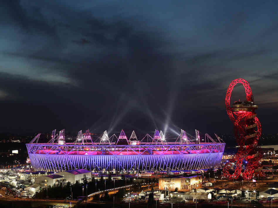 A view of the Olympic Stadium during the closing ceremony of the 2012 Olympic Games on Sunday.