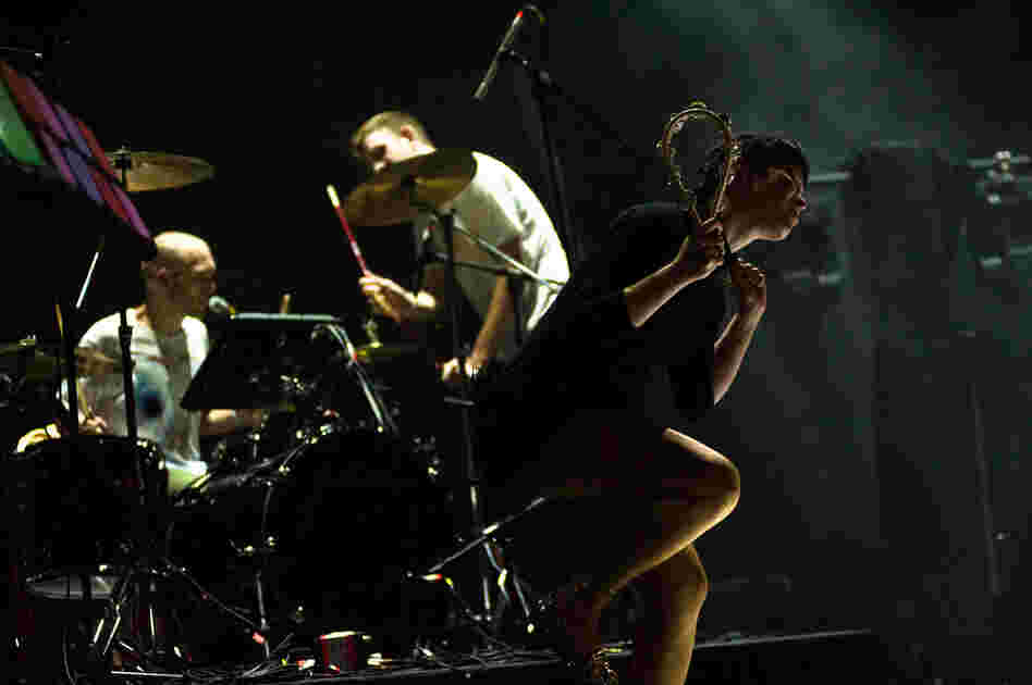 The band's percussion equals its heavy synth elements.