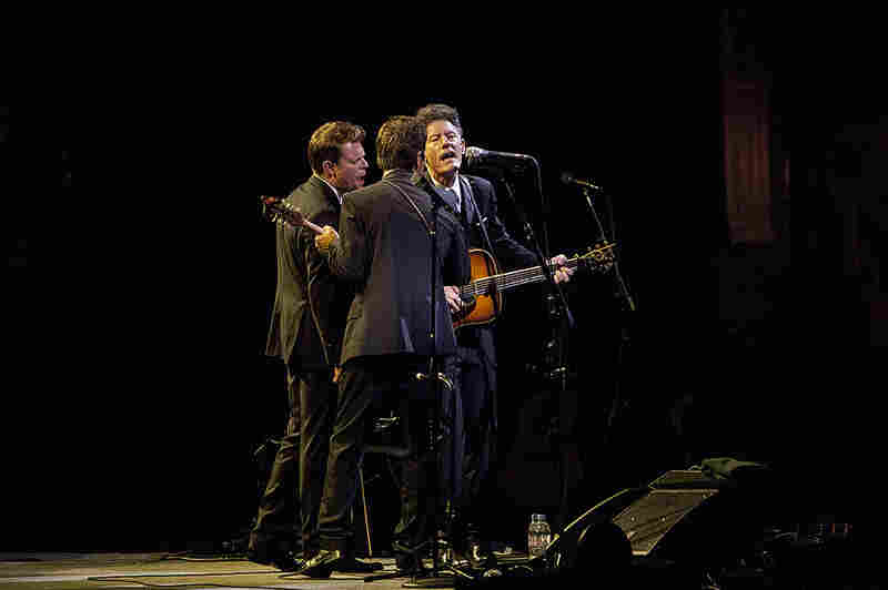 The band included fiddler Luke Bulla (left) and Keith Sewell on guitar and mandolin (center).