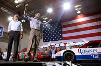 Exuberant audiences are welcoming Wisconsin Rep. Paul Ryan to the GOP 2012 ticket.