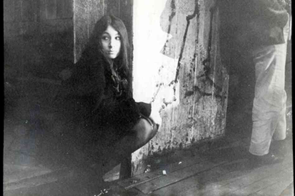 Anjelica Huston as a teen, hanging out at the club on Eel Pie Island in the 1960s.