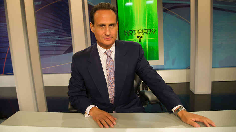 Telemundo anchor and reporter Jose Diaz-Balart made a notable, if fleeting, appearance during NBC's Repu