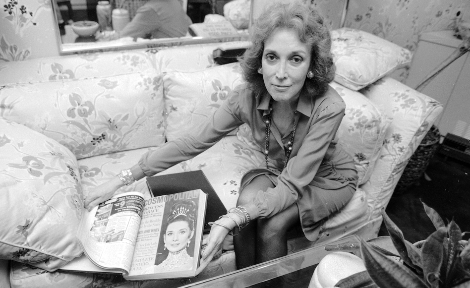 When Helen Gurley Brown took the reins at <em>Cosmo</em><em> </em>in 1965, it was a foundering monthly known for fiction. She remained at the helm for more than 30 years. Here, Brown poses at her office in New York in September 1985.
