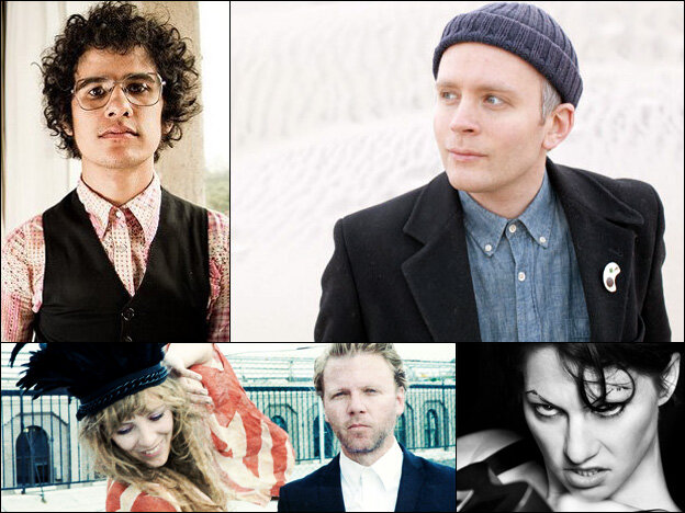 Omar Rodriguez Lopez (clockwise from upper left), Jens Lekman, Amanda Palmer, Niki And The Dove