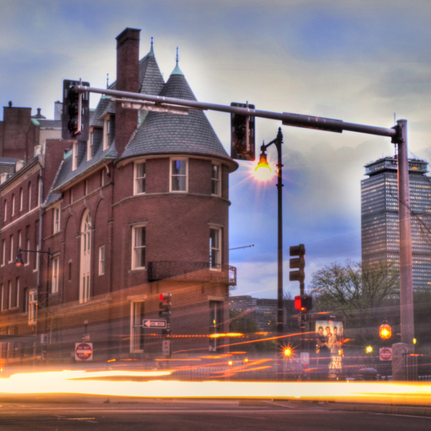 Steve Hamner says the intersection of Beacon Street and Commonwealth Avenue in Boston's Kenmore Square is one place that makes his city such a busy hub.