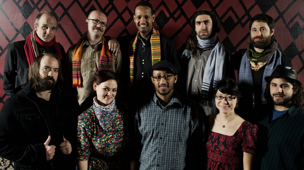 """The debut album from Boston group Debo Band honors and updates the sound of """"swinging Addis."""" (Shawn Brackbill)"""