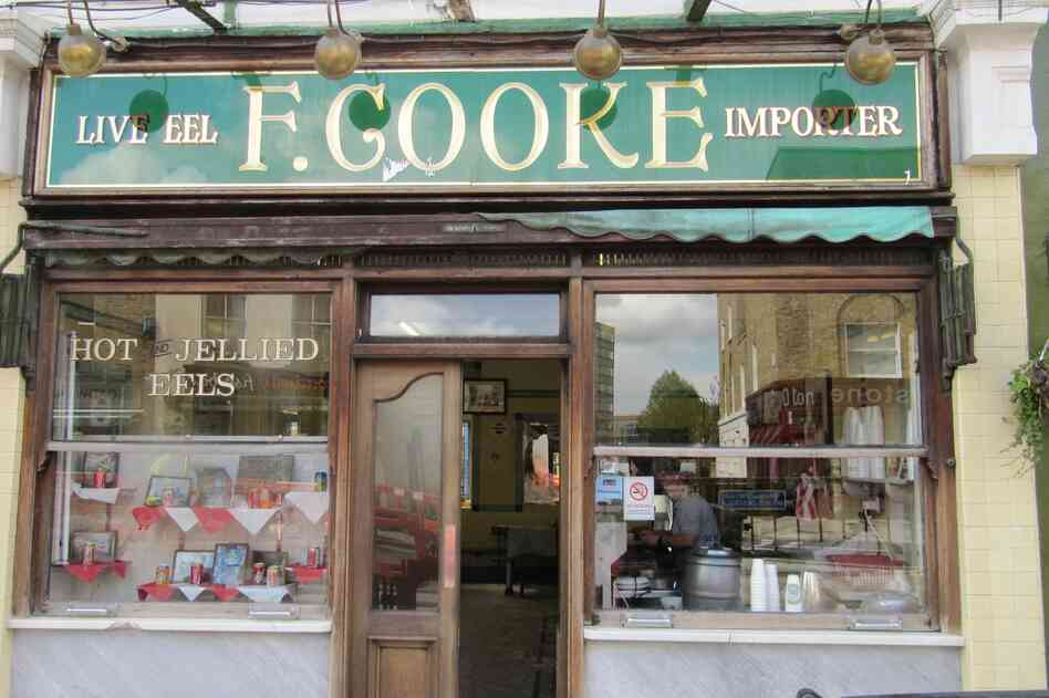 F. Cooke's is one of the few remaining shops where you can buy eel pie in London.