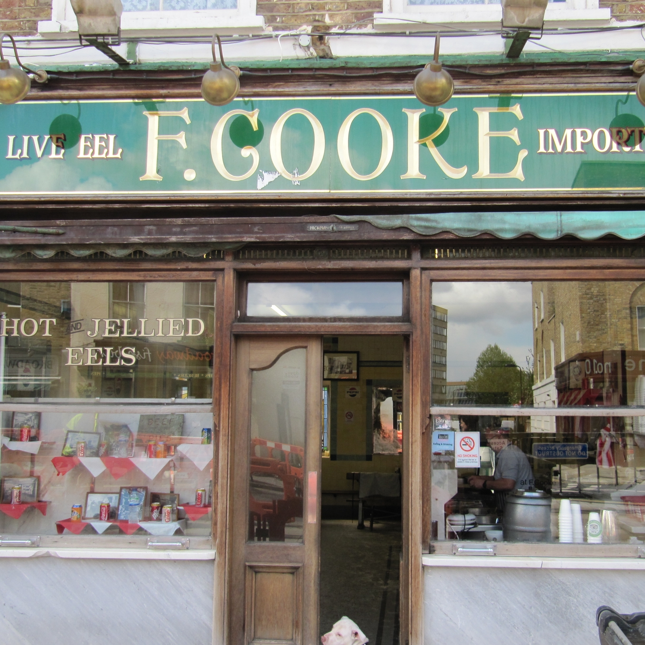 F. Cooke's, one of the few remaining places to get eel pie in London.