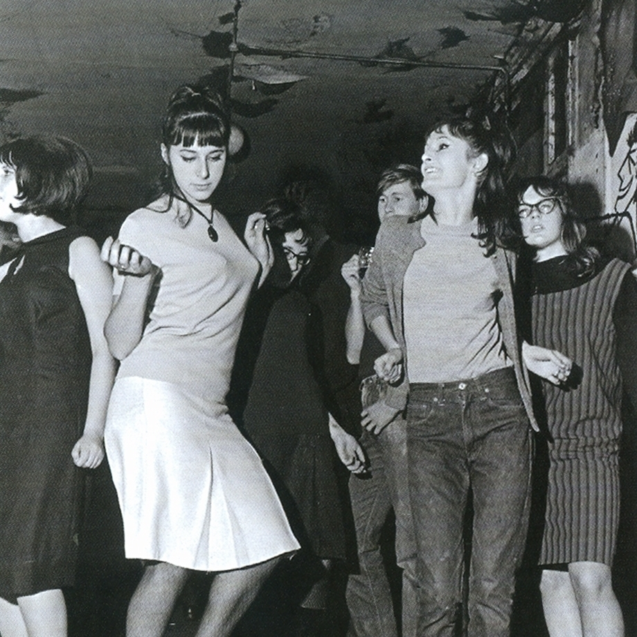 Teens dance at the club on Eel Pie Island in the 1960s.