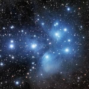 Stars in a dark sky.