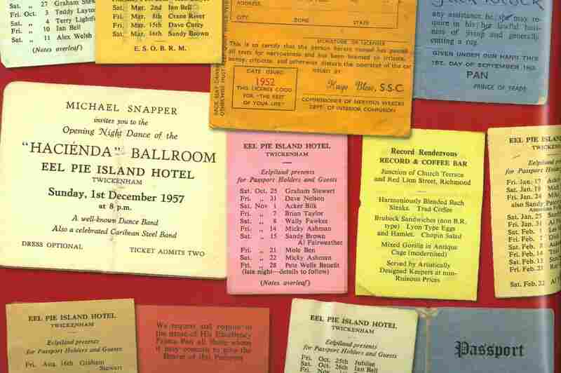 "A collection of Eel Pie Island ""passports."""