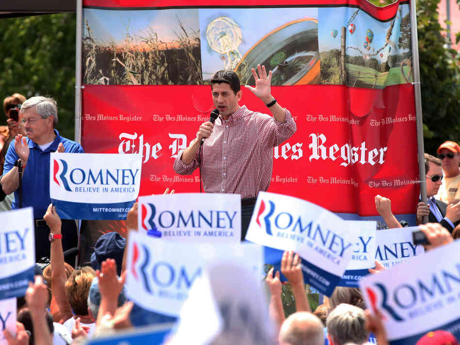 Rep. Paul Ryan at the Iowa State Fair in Des Moines on Monday.