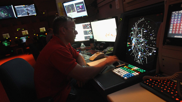 The current radar-based air traffic control system (shown here) will eventually be replaced with a new system called NextGen, which will rely on GPS. A number of computer security experts are concerned that NextGen is insecure and vulnerable to hackers. (Getty Images)