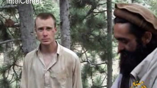 This image provided by IntelCenter on Dec. 8, 2010, shows a frame grab from a video released by the Taliban containing footage of a man believed to be Sgt. Bowe Bergdahl. The 26-year-old Army sergeant was captured by the Taliban more than three years ago. (AP)