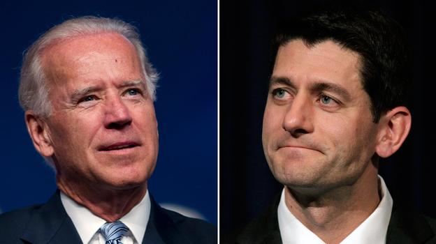 Vice President Joe Biden and Wisconsin Rep. Paul Ryan. (AP)