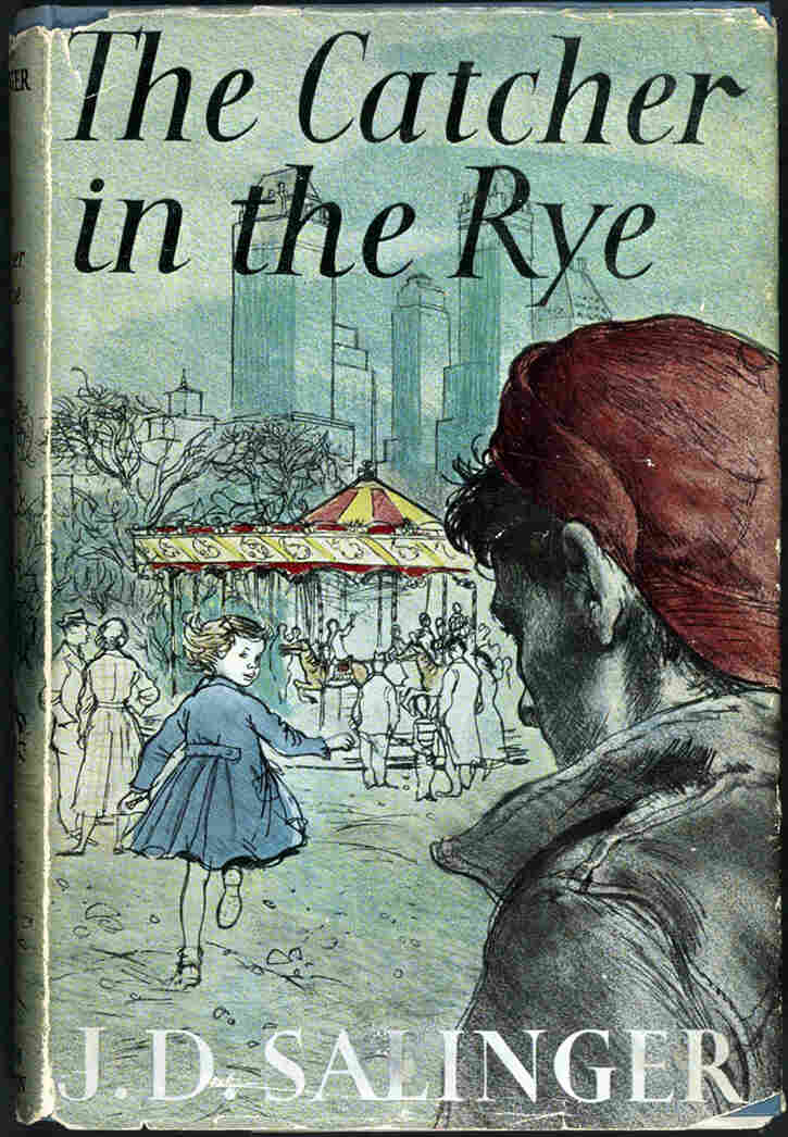 "This 1951 copy of J.D. Salinger's The Catcher in the Rye is one of 88 books on display as part of the Library of Congress' ""Books That Shaped America"" exhibit."