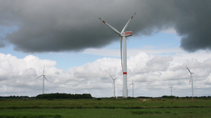 Wind turbines near Ellhoeft, in northern Germany, close to the Danish border. The challenge for Germany's new energy plan is how to transmit power generated in the north to the population centers in the south.