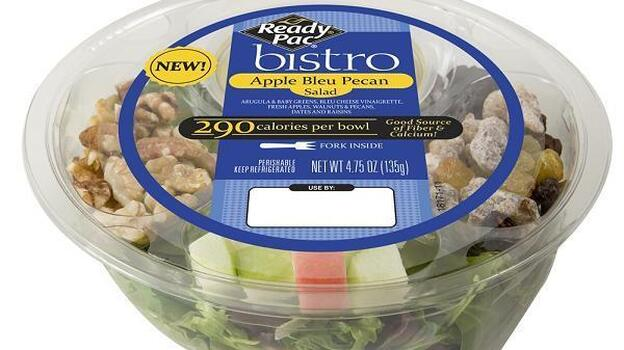 This apple-topped salad is one of several products being recalled for potential contamination with the bacteria Listeria monocytogenes (Ready Pac, Inc.)