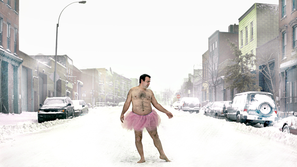 Bob Carey braves all weather. (The Tutu Project)