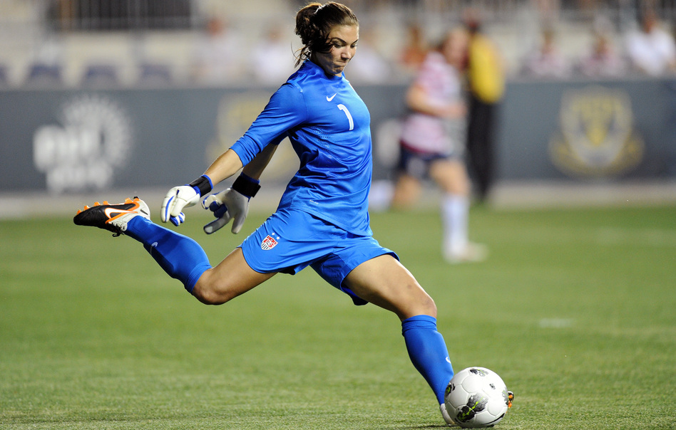 Goalkeeper Hope Solo competes against China in Chester, Penn., on May 27. Solo took a gold medal home from this summer's London Games.