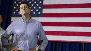 Rep. Paul Ryan, R-Wis., at a campaign event on June 18 in Janesville, Wis. Ryan, Mitt Romney's running mate, has made sure his constituents haven't been left out of federal programs like the stimulus.