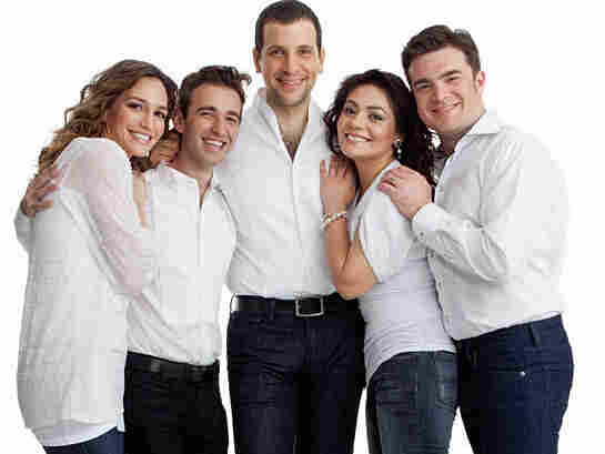 """Appearing in this month's edition of Opera News are a few of opera's """"next wave"""" of fresh faces (from left): Kate Lindsey, Anthony Roth Costanzo, Luca Pisaroni, Ailyn Perez and Michael Christie."""