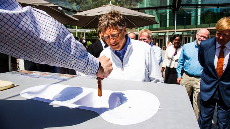 Bill Gates, co-founder of the the Bill & Melinda Gates Foundation, checks out a toilet demo at the Reinvent the Toilet Fair in Seattle, Wash. The festival featured prototypes of high-tech toilets developed by researchers around the world. (Bill & Melinda Gates Foundation)
