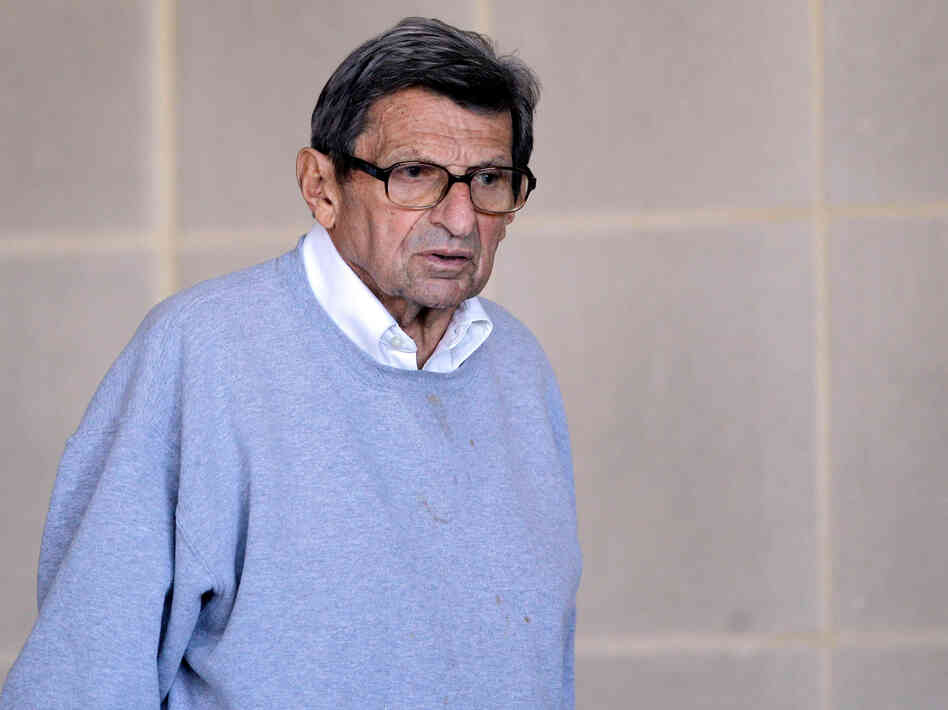 Joe Paterno on Nov. 8, 2011, the day before his firin