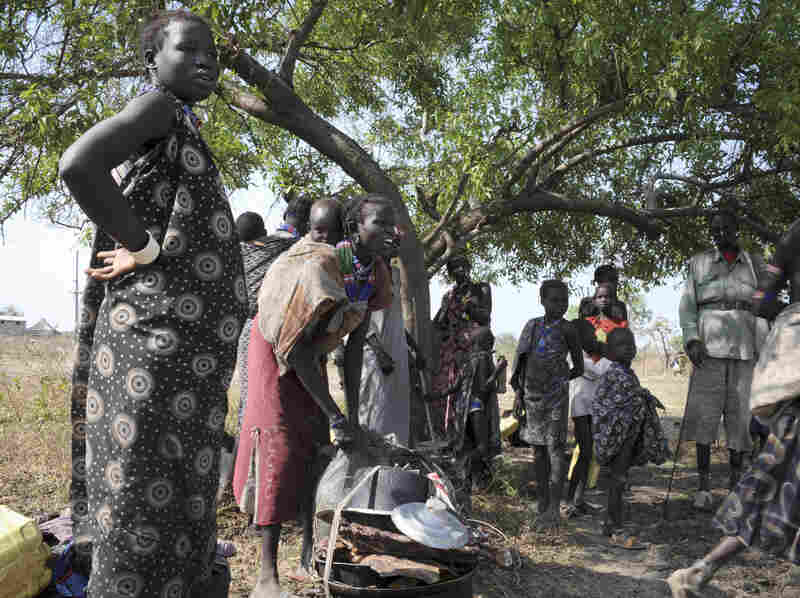 Members of the Murle tribe displaced by cattle raiding attacks are seen here in Pibor in South Sudan's eastern Jonglei state, on Jan. 5, in a photo released by the United Nations Mission in South Sudan.