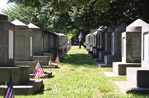 Congressional Cemetery is home to 171 cenotaphs honoring members of Congress who have died. The tradition began in the early 19th century, when it was often impossible to transport bodies home for burial. Later, as this became less of an issue, members of Congress still chose to have a marker in the cemetery, even if their final resting place was elsewhere.