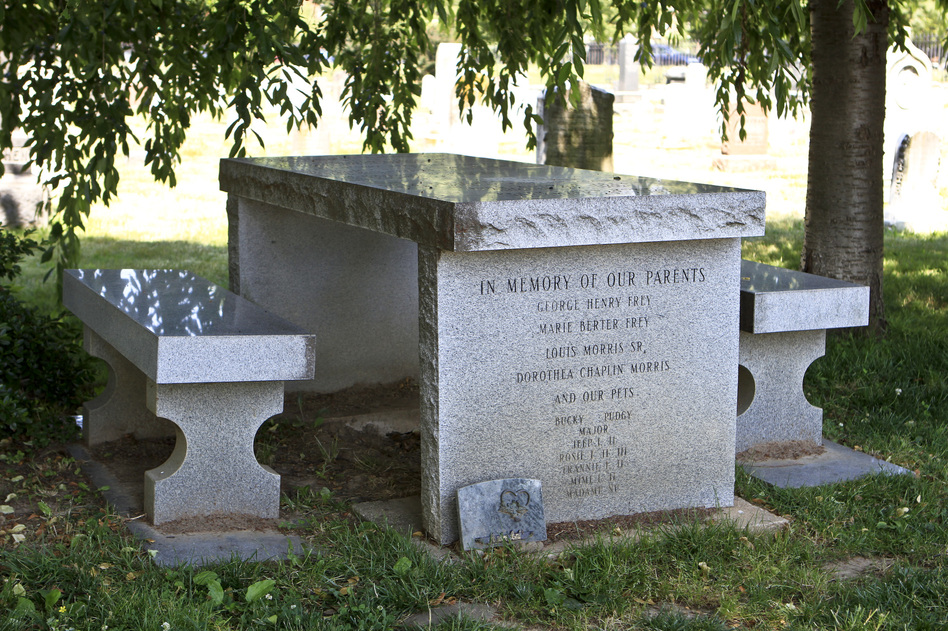 Washington funeral grounds like Congressional Cemetery often served as parks for the city's residents. Gravestones shaped like picnic tables encouraged people to come and spend the day, and even have a picnic. (NPR)