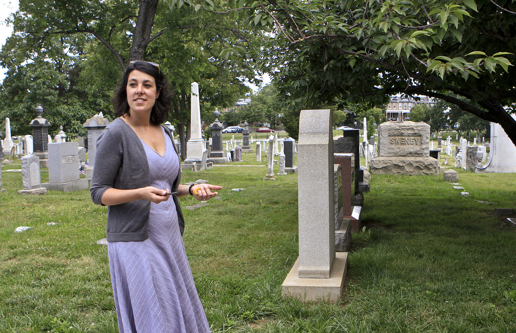 Rebecca Roberts serves as program director at Congressional Cemetery and is the co-author of a new book on the cemetery and its history. Her grandfather Hale Boggs, a representative from Louisiana, has a cenotaph in the cemetery. Boggs was aboard a plane that disappeared over Alaska in 1972 and presumably crashed; his body has never been recovered.