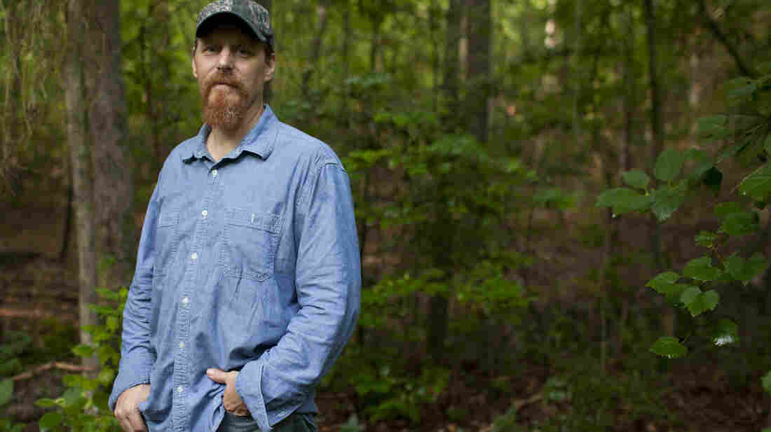 David Daniel stands on his property in Winnsboro, Texas, where the Keystone XL pipeline is slated to be installed. Daniel is opposed to the pipeline, which will carry oil from Canada's tar sands.