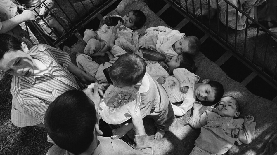 Under Romanian dictator Nicolae Ceaucescu, handicapped and orphaned children were neglected, unbathed and malnourished in orphanages throughout the country. This photo shows orphans at a state institution in Grandinari, Romania in 1989, the year Ceaucescu was overthrown and killed. (Corbis)