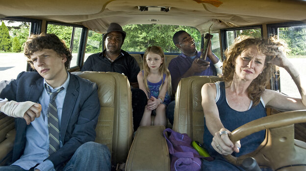 Eli (Jesse Eisenberg) and his mother, Penny (Melissa Leo), fall in with Penny's inept drug dealer, Sprinkles (Tracy Morgan), in the trite new indie drama Why Stop Now.