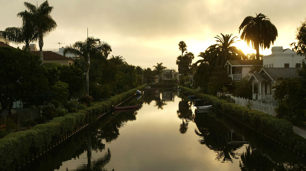 The canals in LA's Venice neighborhood serve as the scene of a murder in Robert Crais' 2011 novel, The Sentry. (Getty Images)