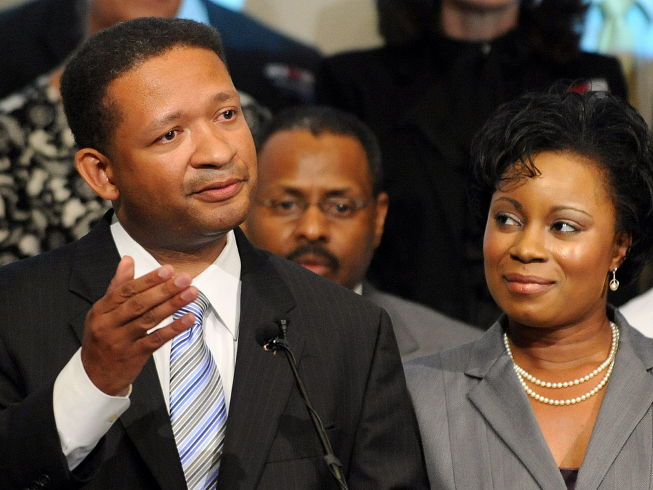 Artur Davis, with his wife, Tara, concedes the Democratic gubernatorial race in Birmingham, Ala., in 2010. Since losing that race, he has become a Republican and moved to Virginia.