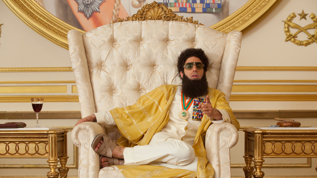 Sacha Baron Cohen plays Admiral General Aladeen, the authoritarian, anti-Semitic and unexpectedly sympathetic protagonist of The Dictator. (Paramount Pictures)