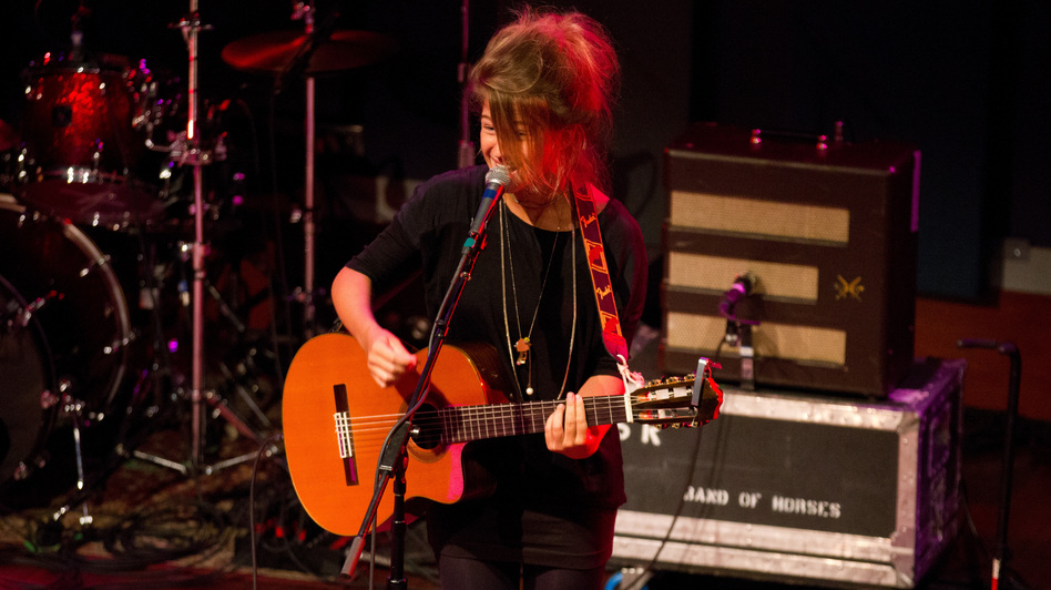 Selah Sue performs some songs at World Cafe Live in Philadelphia. (WXPN)