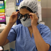 Divya Singh in the operating room.