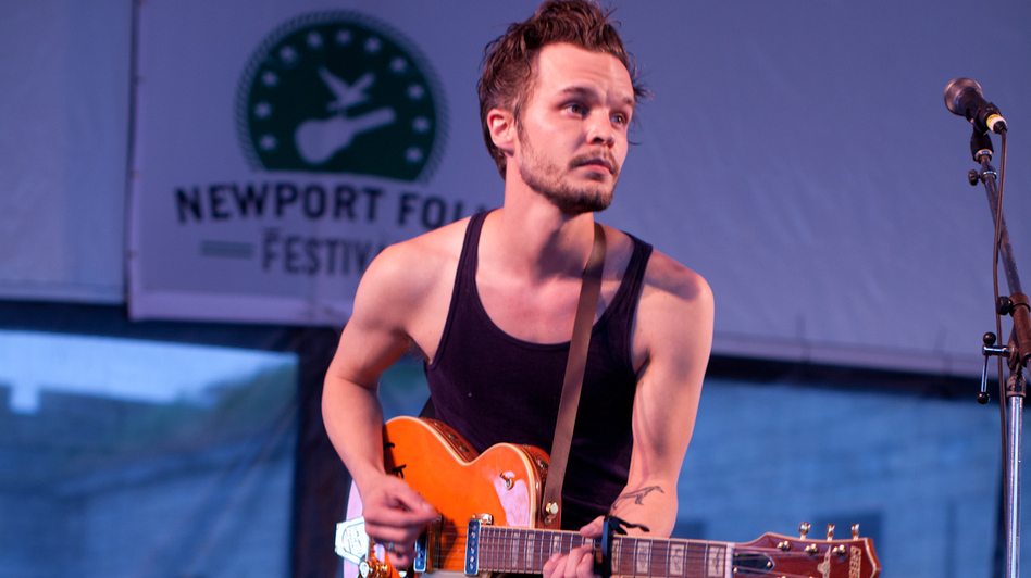 Tallest Man On Earth performs at the 2012 Newport Folk Festival.