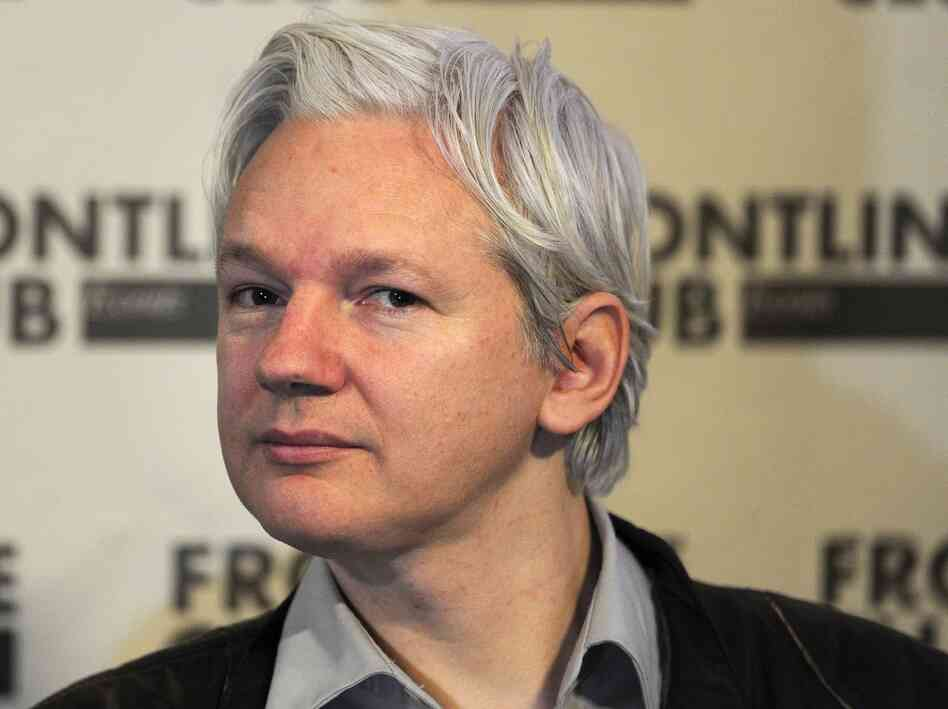 WikiLeaks founder Julian Assange attends a press conference in central London on February 27.
