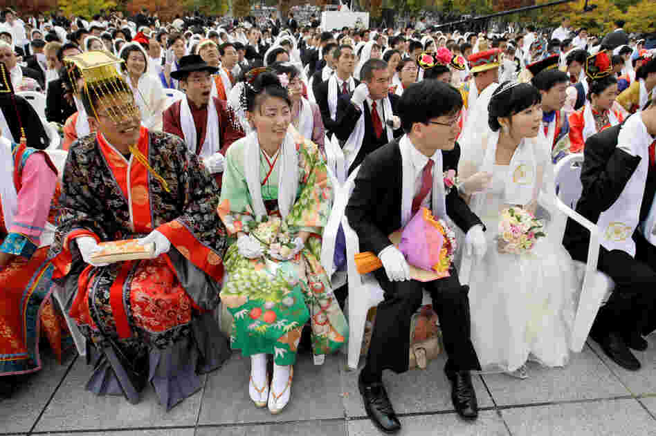 Couples from around the world participated in the mass wedding ceremony.