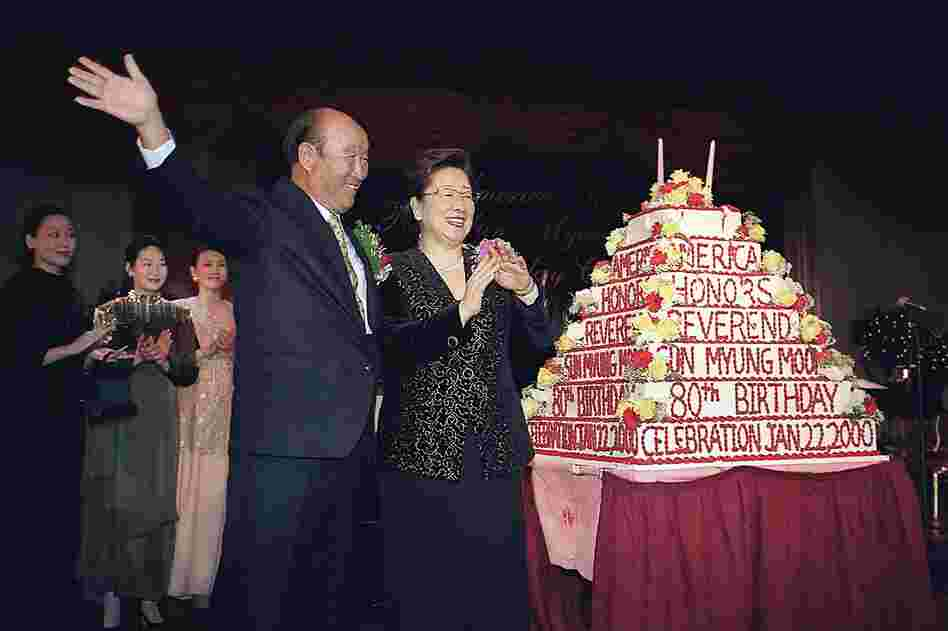 Moon celebrates his 80th birthday in 2000 in Washington, D.C. Religious leaders, diplomats and friends from 150 nations marked the occasion.